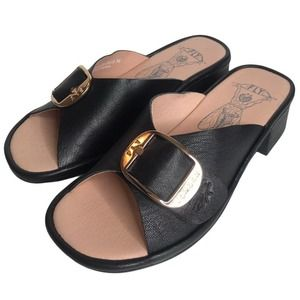 Fly London Elax Slide Sandal with Block Heel